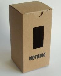 bedrukt doos kraft karton met venster op maat recyclebaar karton