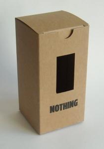bedrukt doos kraft karton met venster op maat kraft met venster