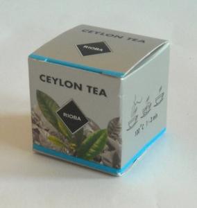 bedrukt doosje voor 1 kop thee