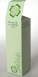 bedrukt doosje massage olie