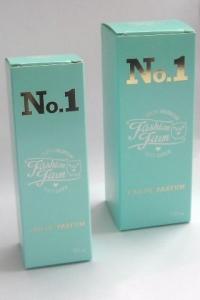 2 maten bedrukte parfumdoosjes