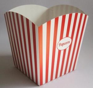 standaard popcorn bakje in rood en wit bedrukt