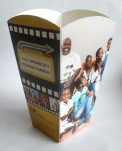 bedrukt popcorn bakje filmfestival
