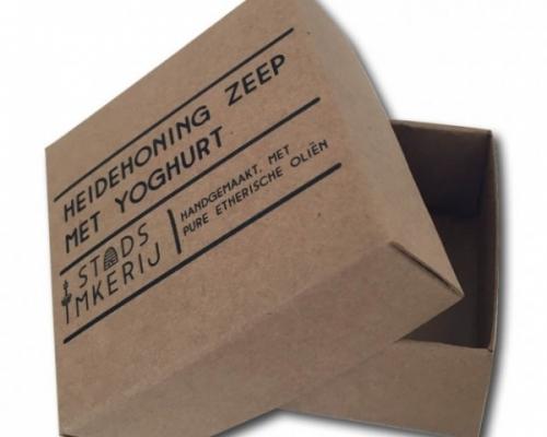 doos met los deksel kraft karton bedrukt