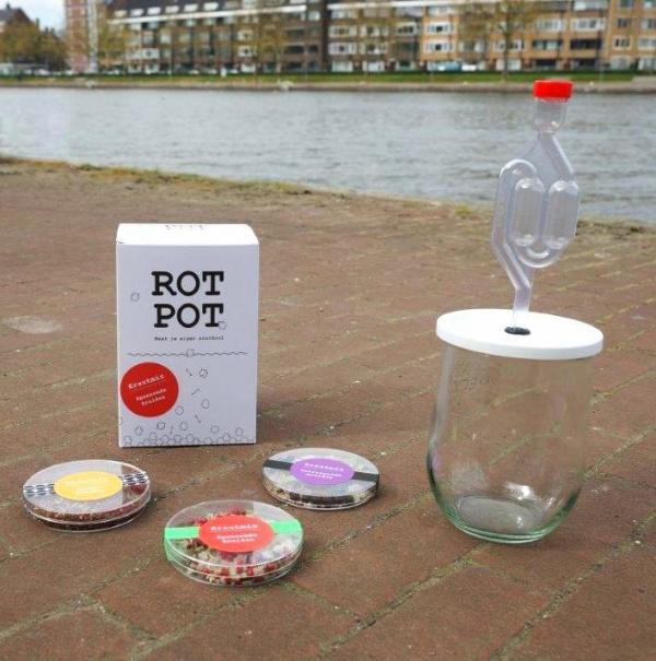 Verpakking bedrukken voor doos RotPot , deksel kruidenmix