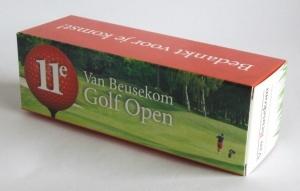Bedrukte golfballendoosje voor van Beusekom Golf Open