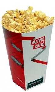 bedrukte popcornbakjes
