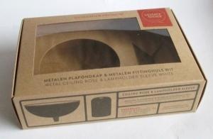 doos van kraft karton met venster recyclebaar bedrukt