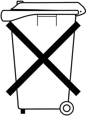 """Symbool """"Niet in afvalbak"""""""