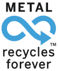 Symbool blik recycling