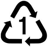 Symbool kunststof recycling