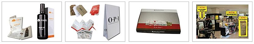 cosmetica doosjes, parfum doosjes, tester, parfum-tester, hangtags, gebruiksaanwijzing, handleiding