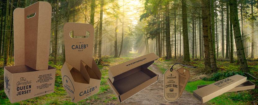 duurzaam karton, duurzame verpakking, biodegradable, verpakking van gerecyled materiaal