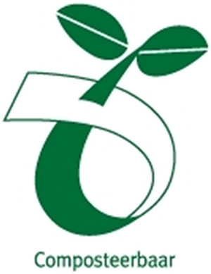 Symbool kiemplantlogo / composteerbaar