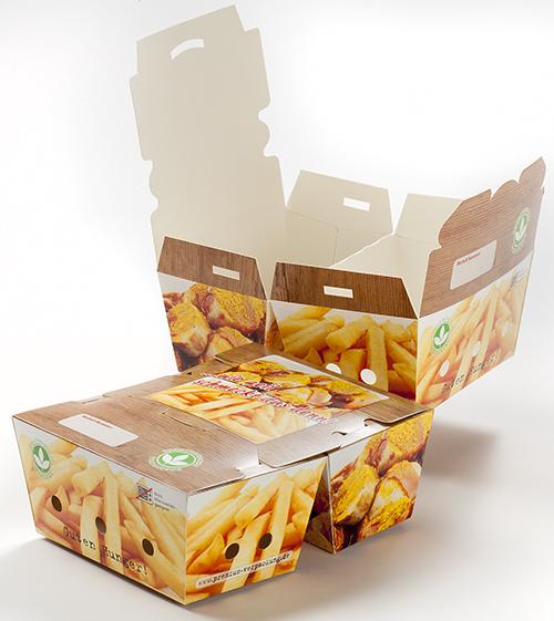 snackverpakking, verpakking patat, verpakking snack, kartonnen verpakking snack