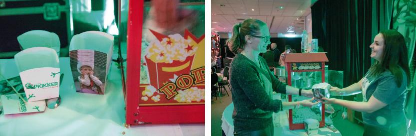 popcornbakje, popcorndoosje, popcornzakje