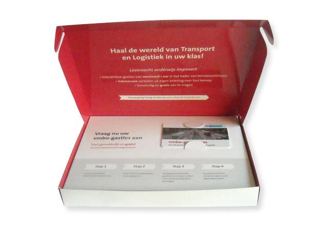 Verzenddoosje voor mailing, a5 formaat, 154x214x28mm