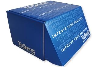 Bedrukte doos van golfkarton fefco 0427 met vaste klep a5 formaat 215x150x125 mm, Wij bieden diverse afwerkingen aan die zorgen voor een fantastisch eindresultaat.