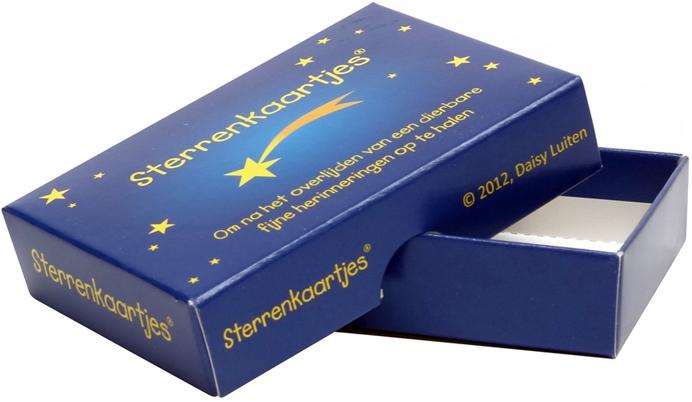 Voorbeeld van een doosje met spelkaarten
