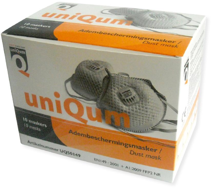 bedrukt doosje voor 10 stuks adembeschermingsmasker ffp2