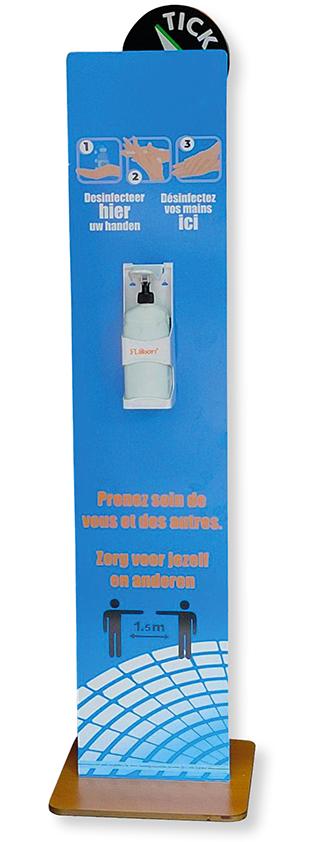 desinfectiezuil met dispenser pompje